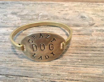 Crazy dog lady bracelet