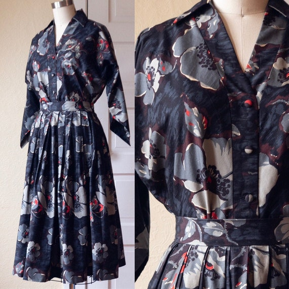 Poppies Print Top and Skirt Two Piece Set