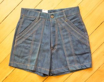 1970's high waisted denim shorts