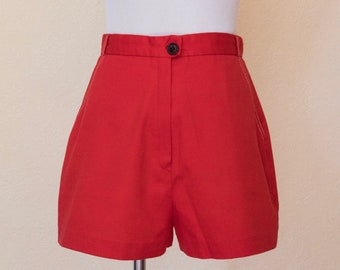 1970's high waisted red shorts