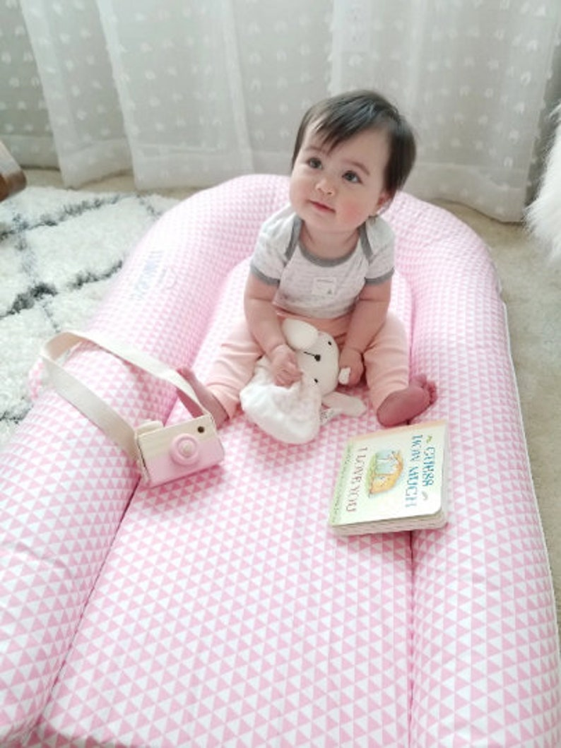 Resting Station Premium High-Quality Toddler Lounger with Ultra Soft Cotton Cover Crib-to-Bed for 9 to 36 Months Toddler Nest