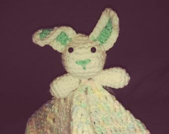 Lovey bunny security blanket