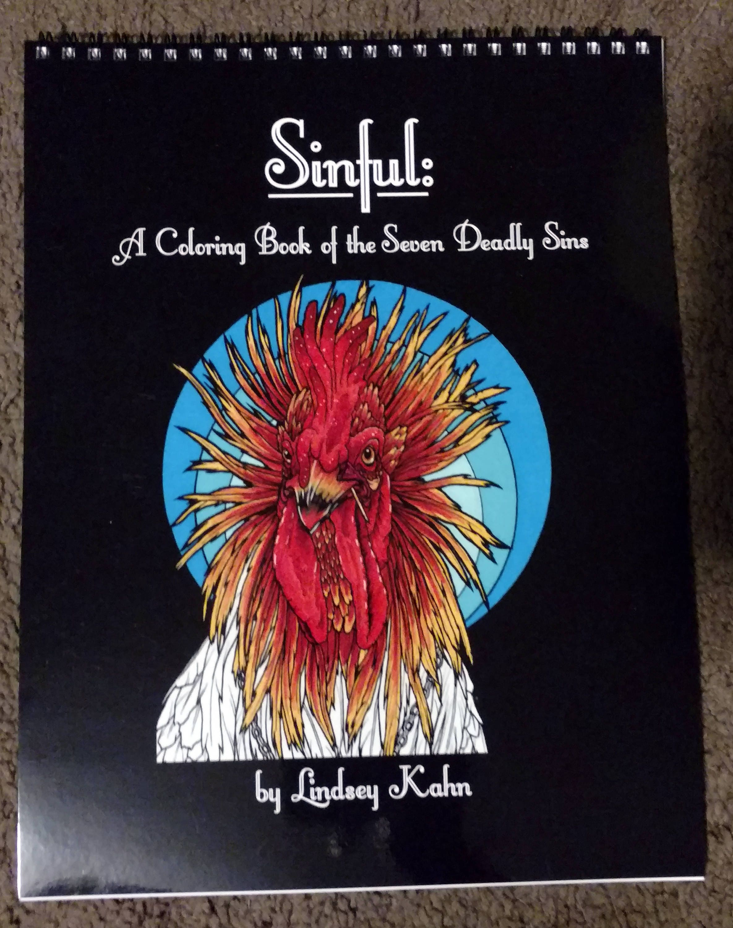 Sinful: A Coloring Book of the Seven Deadly Sins Animal Art
