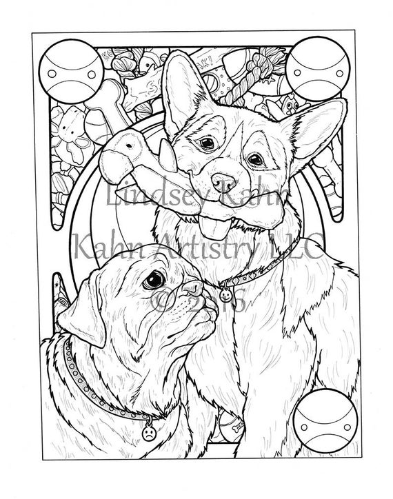 Coloring Page Download From Coloring Book For Adults Seven Etsy