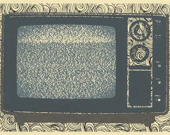Static silkscreen original 11x15 inch print