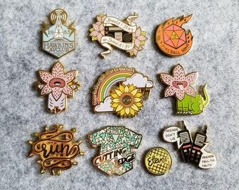 Stranger Pins Collection *FULL SET* B grade only - hard enamel pins