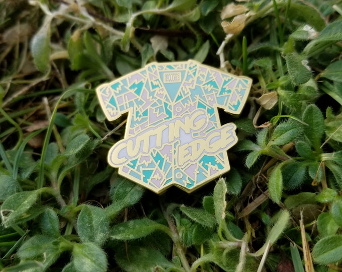 Featured listing image: Cutting Edge hard enamel pin