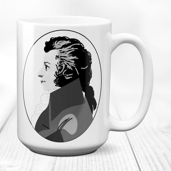 Wolfgang Amadeus Mozart/Composer/coffee mug/classical music/birthday  gift/symphony opera/bohemian musician/vintage picture/15 oz