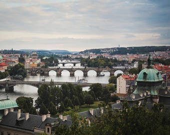 Photo Prague Charles bridge photo Bridges of Prague photo Vltava photo Prague Bridges of Vltava Panorama of Prague Bridges of Prague