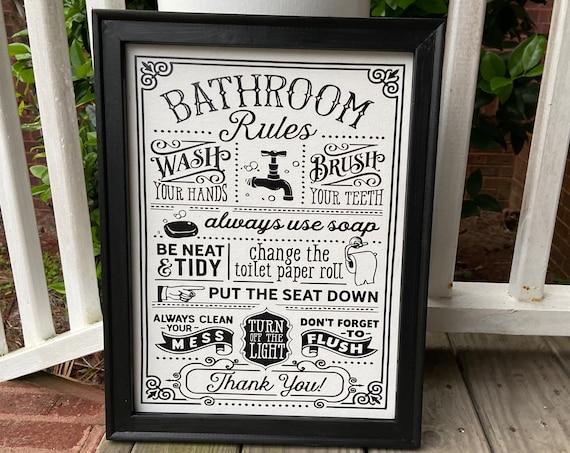 Bathroom rules sign bathroom signs. Bathroom sign. Rules for bathroom. Bathroom decor Bathroom rules signs. powder room signs