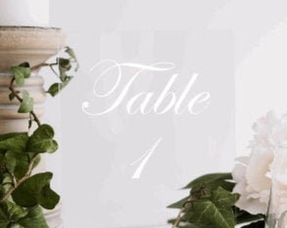 Table number decals. Wedding table stickers. Stickers for table numbers. Wedding table numbers decals. DIY table number decals. Wedding
