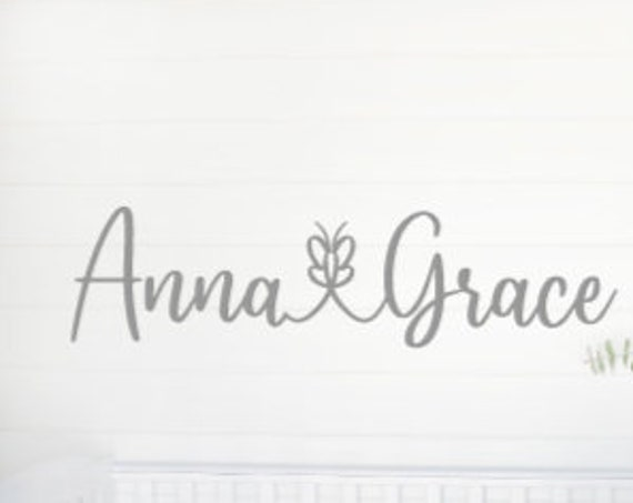 Personalized wall decal. Girl name wall decal.  Nursery wall decal. Girl bedroom wall sticker. Personalized wall decals. Girls name wall
