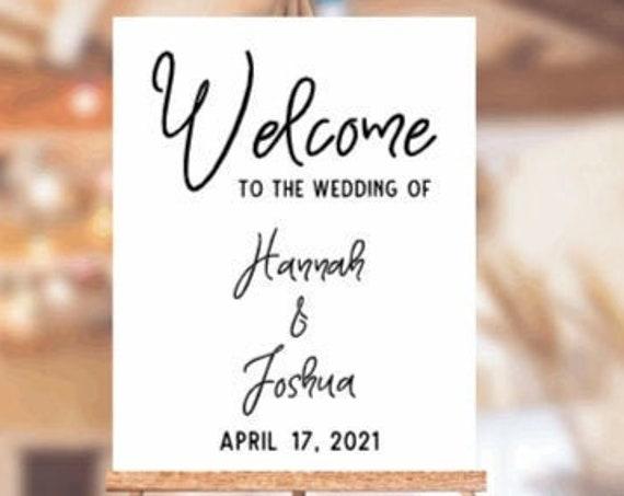 Welcome sign decals. DIY Wedding sign stickers. Welcome sign stickers. Wedding sign decals.  Custom Wedding sign decals. Wedding stickers