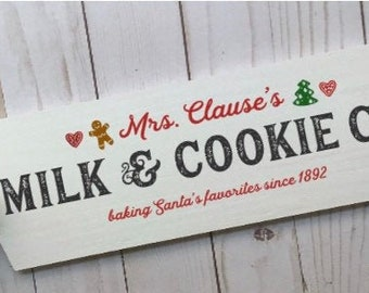 Christmas signs. Kitchen Christmas sign. Mrs Claus's cookies. Wood Christmas sign. Unframed. Santa's cookies sign Mrs. Claus cookie Co
