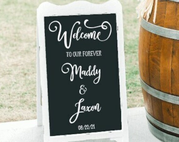 Welcome sign stickers. DIY Wedding sign stickers. Welcome sign stickers. Wedding sign decals.  Custom wedding decals. Welcome sign stencil