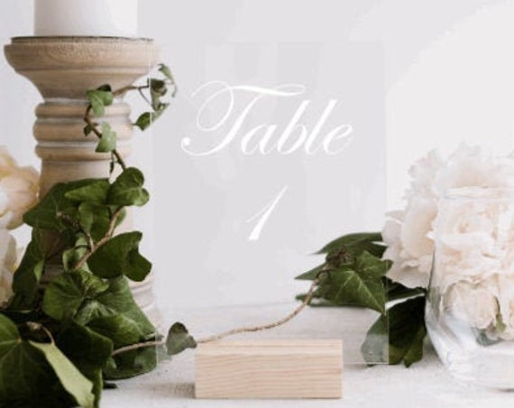 5x7 Acrylic Table numbers. Wedding table numbers. Table number signs. Acrylic wedding signs. Custom table number signs. Acrylic signs.