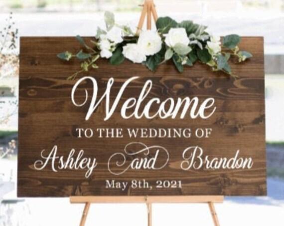 Welcome sign decals. DIY Wedding sign stickers. Welcome sign stickers. Wedding sign decals.  Custom wedding stickers.  Wedding sign decal