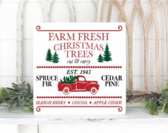 Christmas sign. Farm Fresh Christmas trees. Farmhouse Christmas. Modern Farmhouse Christmas. tree farm signs. Christmas signs.