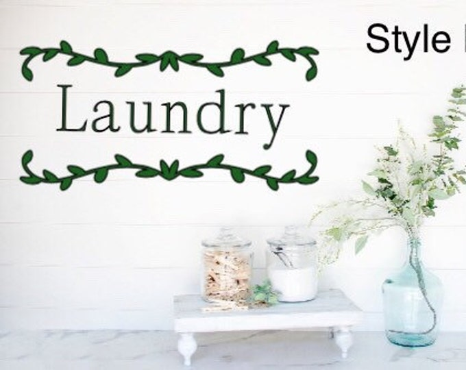 Laundry decal laundry room decals laundry sticker laundry wall sticker laundry room door decal laundry wall decals