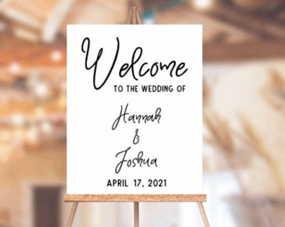 Welcome sign decals. DIY Wedding sign stickers. Welcome sign stickers. Wedding sign decals.  Custom Wedding sign decals. Wedding stickers
