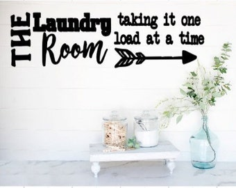 Laundry room decals The laundry room Taking it oneload at a time quote. Laundry room sticker laundry wall decal