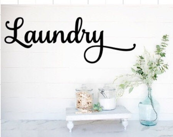 Laundry room decal Laundry sticker Laundry room decor Laundry decal for door Laundry room sticker for door Laundry wall decal