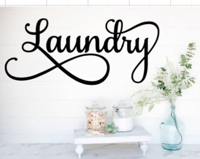 Laundry room decal laundry door decal laundry sticker laundry room decor laundry decals laundry stickers