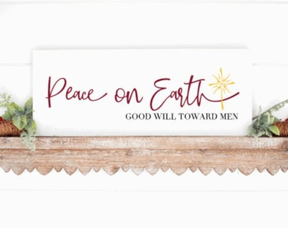 Wood Christmas sign. Peace on Earth. Farmhouse Christmas. Peace on Earth sign. Christmas decor. Christmas signs. Winter signs.