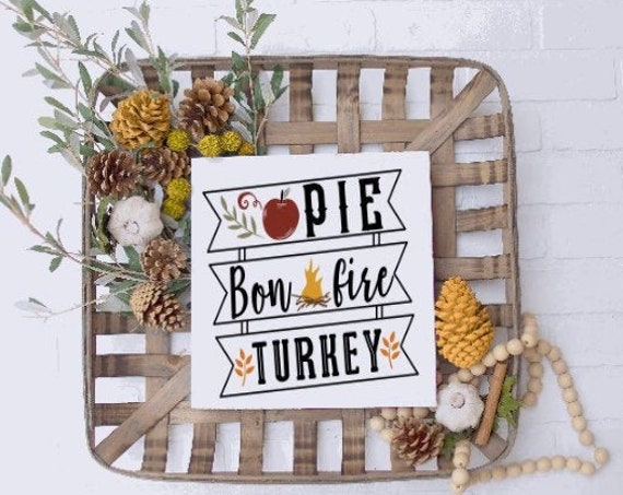 Fall shelf sign. Fall wood signs. Fall signs. Fall sign. Autumns sign. Thanksgiving decor. Pie, bonfires, turkey. Wood fall signs.