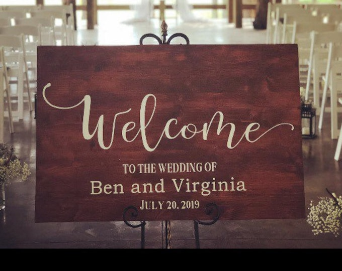 Welcome wedding sign decal sticker vinyl  for wood signs glass acrylic mirror wedding decor