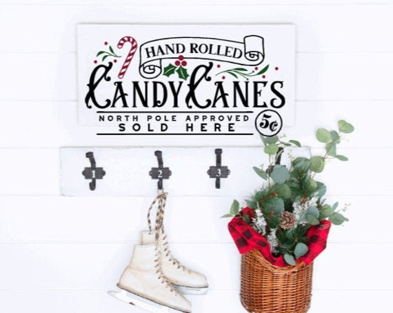 Wood Christmas sign. Hand rolled Candy Canes. Farmhouse Christmas. Modern Farmhouse Christmas decor. Christmas signs. Winter signs.