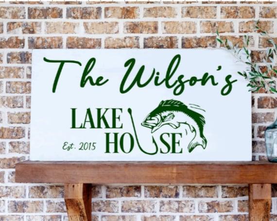 Personalized Lake house sign. Custom Lake house signs. Wood sign for lake house. Lake house sign. lake house signs. Wooden lake house signs.