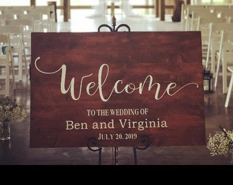 Wedding Welcome sign. Wedding signs. Welcome Wedding sign. Wedding decor. Wedding sign. Welcome sign. Custom Wood signs