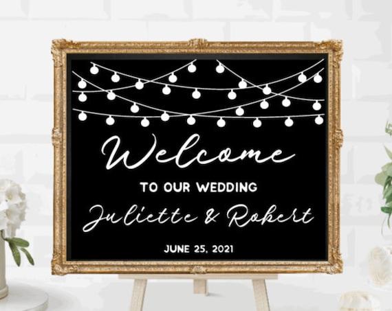Welcome sign decals. DIY Wedding sign stickers. Welcome sign stickers. Custom Wedding sign decals.  Welcome  sign decals for wedding.