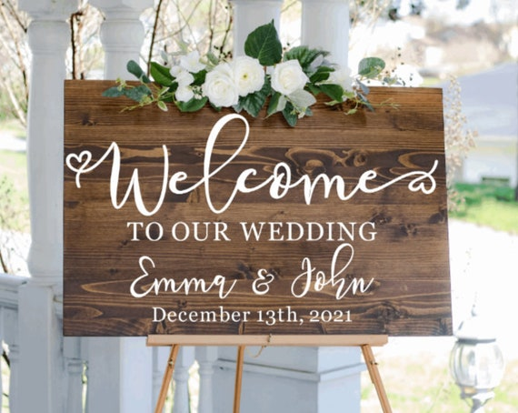 Welcome to our Wedding signs. Welcome signs. custom wedding signs. Wood wedding sign.  Rustic Wedding decor. Wooden wedding sign