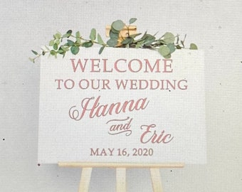 Wedding sign decal.  Custom wedding stickers.  Custom wedding decals. Welcome sign decals. DIY wedding sign. Welcome to our wedding stickers