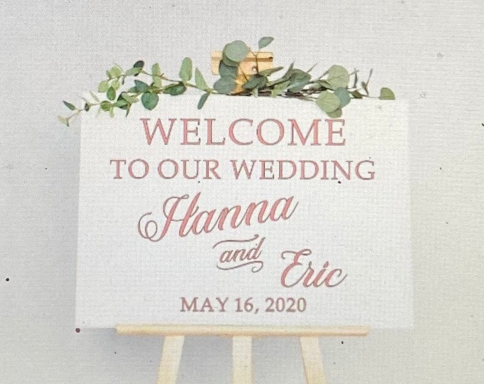 Wedding welcome sign decal. Customized wedding decal.
