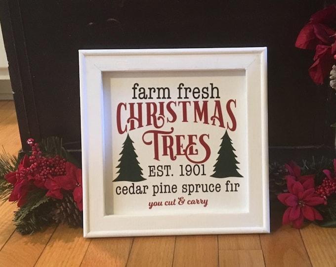 Farm Fresh Christmas trees sign cut & carry Tree farm Christmas tree farm sign Christmas signs holiday decor Christmas decor