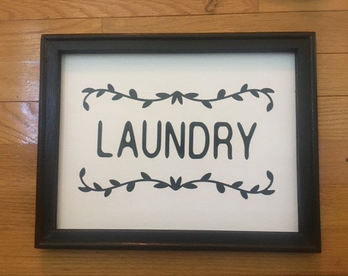 Laundry Room signs Laundry sign Laundry room decor  laundry room wall decor Laundry Room framed sign