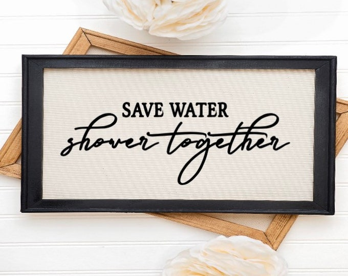 Bathroom sign Save Water Shower Together. Bathroom signs restroom sign restroom signs bathroom decor powder room sign restroom decor