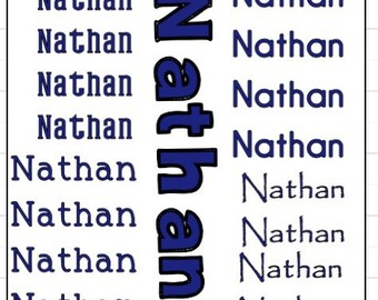 Name outline stickers for school supplies name decals labels for back to school supplies vinyl name stickers for school heat transfer name