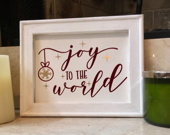 Joy to the World sign  Christmas signs holiday sign Christmas decor Christmas sign winter decor Holiday decor Holiday sign