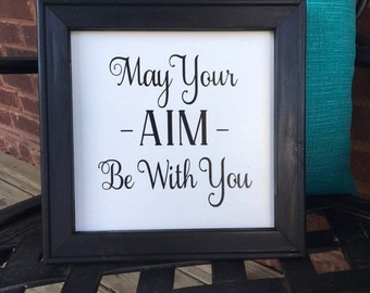 May your aim be with you funny bathroom sign bathroom  signs humor guest bath sign restroom signs powder room decor