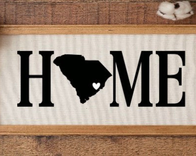 Personalized HOME sign with state and optional GPS coordinates, heart on location or college logo. Home signs with heart. College decor.
