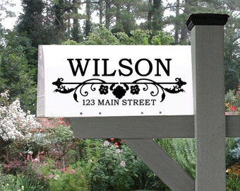 Mailbox Decal. Custom mailbox decals. mailbox sticker, mailbox decal with name and address. Personalized mailbox decals, mailbox decor