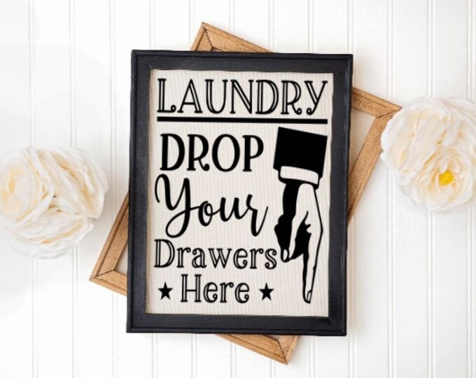 Laundry Room Sign. Drop your drawers here. Pointing finger Laundry sign Laundry room sign Laundry room decor Laundry room signs