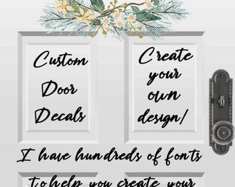 Custom door decals for office, home, business. Store front decals. Address decal for front door. Stickers for glass doors