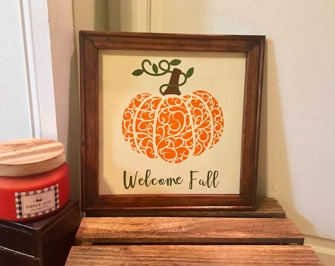 Fall sign Welcome Fall sign autumn signs  mandala pumpkin sign zentangle pumpkin sign  fall decor autumn decor pumpkin signs Autumn sign