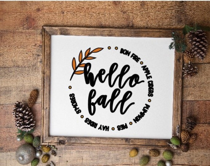Hello Fall sign. Fall signs. Fall sign. Fall decor Autumn sign. Autumn signs. Autumn decor Harvest sign pumpkin apple cider hayrides