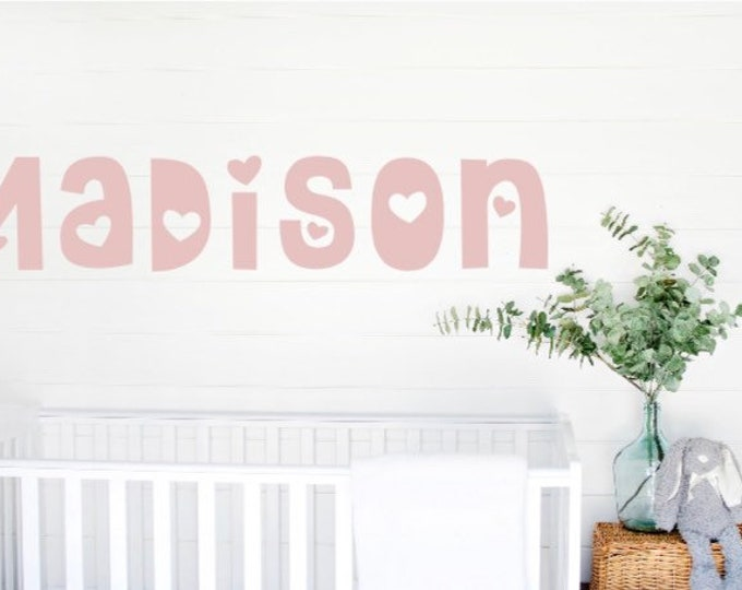 Nursery wall decals. Name wall decal. Kid's room decals. Wall decal wall decals baby name wall decals over the crib decals girl's name decal